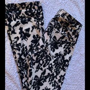 Black&White Floral Ann Taylor Jeans